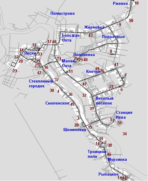 В следующей версии будут Карбюраторный завод, Финляндский вокзал, Ручьи, Больница им. Мечникова, площадь Калинина и...